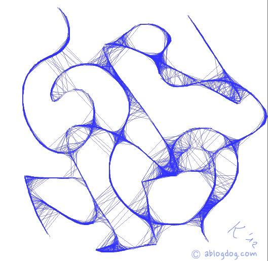 Scribble abstract