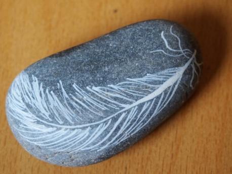 Feathery paperweight?