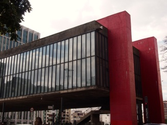 The distinctive MASP museum.